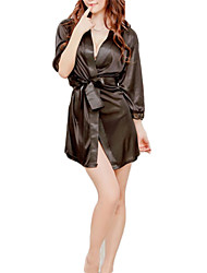 cheap -Uniforms Lingerie Pajamas Sex Cosplay Costume Solid Colored Dress Belt T-Back