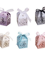 cheap -10Pcs/Set Love Heart Party Wedding Hollow Carriage Baby Shower Favors Gifts Candy Boxes
