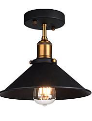 Недорогие -диаметр 26см промышленный потолочный светильник полупрозрачный старинный металлический 1-светлый потолочный светильник столовая кухонная лампа