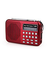 cheap -Y-869 FM Portable Radio MP3 Player TF Card World Receiver Black / Red / Blue
