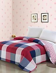 abordables -Confortable 1 x Housse de couette, 100 % Polyester 100 % Polyester Teinture 230TC Ecossais/à Carreaux