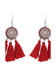 cheap -Women's Drop Earrings Personalized Tassel Vintage Bohemian Fashion Earrings Jewelry Red / Green / Blue For Party Graduation Gift Daily Casual Evening Party