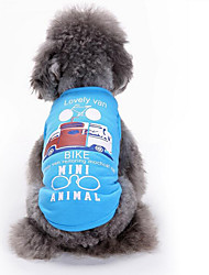 cheap -Dog Vest Dog Clothes Cartoon White Blue Cotton Costume For Spring &  Fall Summer Men's Women's Casual / Daily