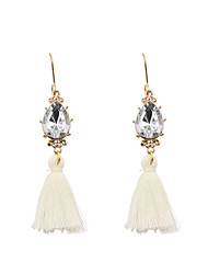 cheap -Women's Drop Earrings Personalized Tassel Bohemian Fashion Earrings Jewelry White For Wedding Gift Daily Casual Evening Party Office & Career
