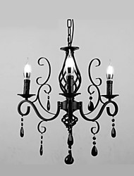 cheap -3-Light 58 cm Crystal / Candle Style Chandelier Metal Others Modern Contemporary 110-120V / 220-240V