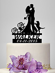 cheap -Cake Topper Classic Theme / People / Wedding Classic Couple Plastic Wedding / Anniversary with 1 pcs Poly Bag