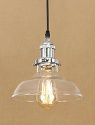 cheap -1-Light 20 cm Bulb Included / Eye Protection / Designers Pendant Light Metal Glass Electroplated Retro 200-240V / 110-120V