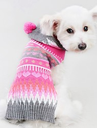 cheap -Cat Dog Coat Sweater Christmas Winter Dog Clothes Rose Costume Spandex Cotton / Linen Blend Stripes Party Cosplay Casual / Daily XXS XS S M L