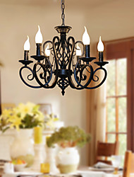 cheap -6-Light 53 cm Candle Style Chandelier Metal Candle-style Painted Finishes Traditional / Classic 110-120V 220-240V