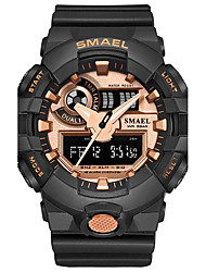 cheap -SMAEL Men's Sport Watch Digital Watch Japanese Quartz Digital Quilted PU Leather Silicone Black / Blue / Red 30 m Water Resistant / Waterproof Chronograph Shock Resistant Analog - Digital Casual
