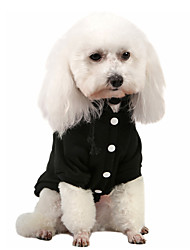 cheap -Dog Hoodie Sweatshirt Winter Dog Clothes Black Orange Red Costume Cotton Solid Colored Casual / Daily Simple Style XS S M L