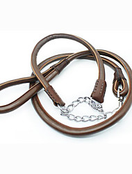 cheap -Collar Leash Wateproof Portable Adjustable Safety Solid PU Leather