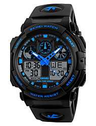 cheap -Men's Sport Watch Military Watch Analog - Digital Quartz Digital Charm Calendar / date / day Chronograph Creative / Silicone / Genuine Leather / Two Years