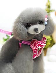 cheap -Cat Dog Harness Leash Adjustable / Retractable Tiaras & Crowns Cosplay Textile Nylon Black Rose
