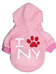 cheap -Dog Hoodie Dog Clothes Letter & Number Fleece Down Cotton Costume For Winter Men's Women's Casual / Daily