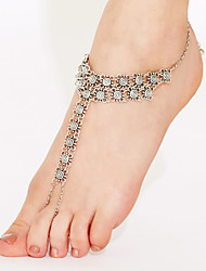 cheap -Anklet Barefoot Sandals Ladies Unique Design Boho Women's Body Jewelry For Christmas Gifts Daily Gold Plated Alloy Silver