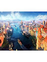 Недорогие -1000 pcs Замок Знаменитое здание Корабль Пазлы Головоломка для взрослых Огромный деревянный Взрослые Игрушки Подарок