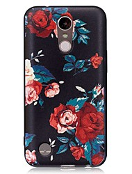 cheap -Case For LG LG K10 (2017) / LG K8 (2017) Embossed / Pattern Back Cover Flower Soft TPU