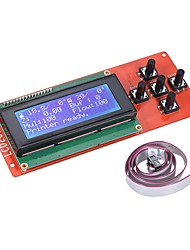 cheap -2004 LCD Smart Display Screen Controller Module with Cable for RAMPS 1.4 Arduino Mega Pololu Shield Arduino Reprap 3D Printer Kit Accessor