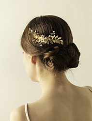 cheap -Imitation Pearl / Alloy Hair Combs / Flowers / Headwear with Floral 1pc Wedding / Special Occasion / Anniversary Headpiece
