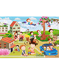 cheap -House Sun Bicycle Cartoon Flower Jigsaw Puzzle Adult Puzzle Jumbo Wooden Anime Kid's Toy Gift