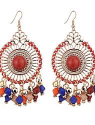 cheap -Women's Drop Earrings Tassel Earrings Jewelry Black / Light Green / Rainbow For Gift Daily