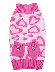 cheap -Cat Dog Coat Sweater Christmas Winter Dog Clothes Pink Costume Spandex Cotton / Linen Blend Leopard Party Cosplay Casual / Daily XXS XS S M L XL