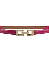 cheap -Women's Dress Belt Alloy Buckle - Solid Colored Fashion / PU
