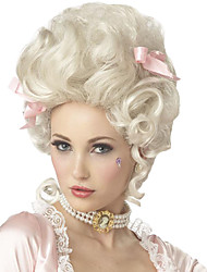 cheap -Synthetic Wig Cosplay Wig Marie Antoinette Curly Curly 18th Century Wig Medium Length White Synthetic Hair Women's California Costumes White