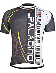 cheap -ILPALADINO Men's Short Sleeve Cycling Jersey Polyester Coolmax® Bike Jersey Top Mountain Bike MTB Road Bike Cycling Quick Dry Sports Clothing Apparel / Stretchy