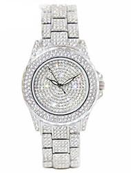cheap -Women's Simulated Diamond Watch Quartz Alloy Band Sparkle Silver Gold