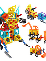 Недорогие -Магнитный конструктор Магнитные плитки Конструкторы Башня Знаменитое здание Классический Fun & Whimsical Мальчики Девочки Игрушки Подарок