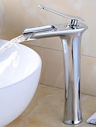 cheap -Faucet Set - Waterfall Chrome Deck Mounted Single Handle One HoleBath Taps