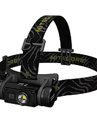 cheap -Nitecore HC60 Headlamps LED Cree® XM-L2 T6 Emitters 1000 lm 8 Mode with Battery and USB Cable Widespread Lighting Travel Camping / Hiking / Caving Everyday Use Hunting White Light Source Color