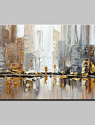cheap -Large Size Hand Painted Knife City Oil Painting On Canvas Wall Art Pictures For Home Decoration No Frame