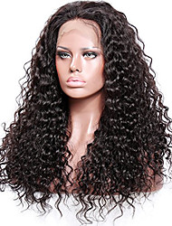cheap -Remy Human Hair Unprocessed Human Hair Glueless Full Lace Full Lace Wig style Brazilian Hair Curly Wig 130% 150% 180% Density with Baby Hair Natural Hairline African American Wig 100% Hand Tied