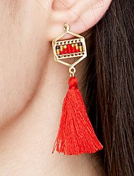 cheap -Women's Earrings Hanging Earrings Tassel Long Ladies Tassel Bohemian Fashion Euramerican Boho Stainless Steel Gold Plated Earrings Jewelry Light Green / Candy Pink / Teal For Event / Party Gift