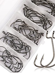 cheap -50 pcs Worm Hooks Carbon Steel Fishing Hooks Sea Fishing / Fly Fishing / Bait Casting Thin Hang-Nail