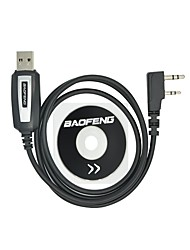 cheap -Professional USB Programming Cable with CD Baofeng UV-5R UV-5RA UV-B5 UV-82 BF-888S BF-666S for Portable Radio for Baofeng Walkie Talkie Intercom