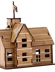 abordables -Puzzles 3D Puzzle Maison Bois Naturel Enfant Unisexe Jouet Cadeau
