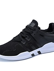 cheap -Men's PU Spring / Fall Light Soles Athletic Shoes Running Shoes Black / Black / White / Black / Red / Lace-up