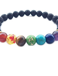 cheap -Men's Women's Crystal Obsidian Bead Bracelet Love Rainbow Chakra Personalized Classic Vintage Basic Simple Style Crystal Bracelet Jewelry Rainbow For Christmas Wedding Party Birthday New Baby