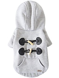 cheap -Dog Coat Dog Clothes British Gray Red Cotton Costume For Spring &  Fall Winter Women's Casual / Daily