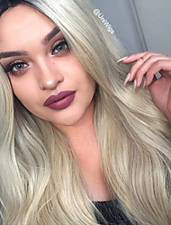 cheap -Synthetic Lace Front Wig Wavy Wavy Lace Front Wig Blonde Long Blonde Synthetic Hair Women's Natural Hairline Red Blonde Uniwigs