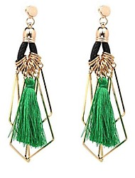 cheap -Women's Drop Earrings Oversized Personalized Tassel Oversized Earrings Jewelry White / Black / Green For Casual Stage Going out