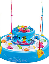 cheap -Fishing Toy Educational Toy Rotating Fishing Toy Fish Electric 4 players Plastics Kid's Toy Gift