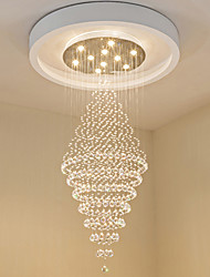 cheap -10-Light 70 cm Crystal / Bulb Included Chandelier Metal Electroplated Chic & Modern 110-120V / 220-240V