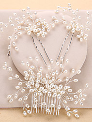cheap -Imitation Pearl Hair Combs / Headwear with Floral 1pc Wedding / Special Occasion / Anniversary Headpiece
