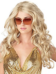 cheap -Synthetic Wig Wavy Wavy Wig Blonde Long Light Blonde Synthetic Hair Women's Blonde