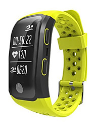 Недорогие -Муж. Смарт-часы Модные часы Цифровой силиконовый Группа Черный Красный Желтый